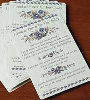 I Said a Prayer  - Prayer Cards Laminated