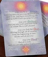 'Today Forever' Laminated Prayer Cards