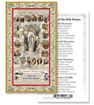 Mysteries of the Rosary Holy Cards