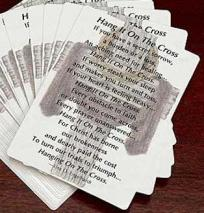 Hang it on the Cross - Prayer Cards Laminated