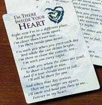 Inside Your Heart Prayer Cards Laminated