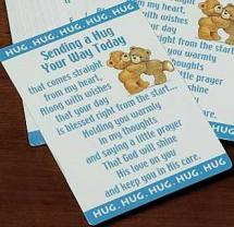 Sending a Hug Prayer Cards Laminated