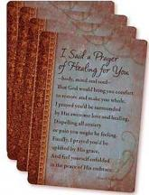 I Said a Prayer of Healing  Pocket Prayer Cards