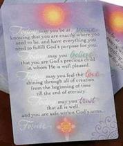 Today � Forever Prayer Cards Laminated