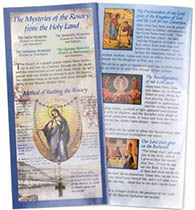 Mysteries of the Rosary 10 Page Folder - Deluxe