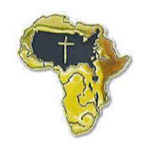 African American Mission Pin Gold Plated