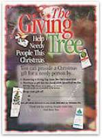 Giving Tree Sales Poster Christmas