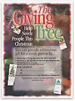Giving Tree Sales Poster Christmas
