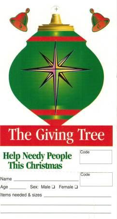 Small Giving Tree Christmas Tags (Pkg of 100)