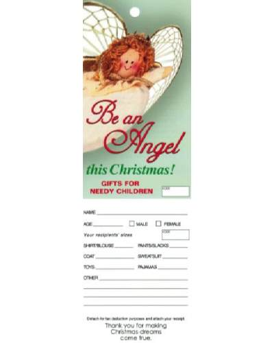 Christmas Giving Angel Tags for Organizations (Pkg of 100)