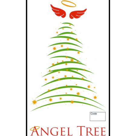 Christmas Tree Angel Tree Tag -Top