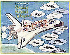 Space Shuttle Church Enlargement Campaign Poster
