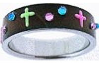 Cross Colorful Stainless Steel Ring
