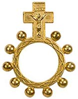 Gold Rosary Ring Inexpensive