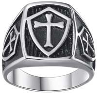 Stainless Steel Armor of God Ring Size 7,8