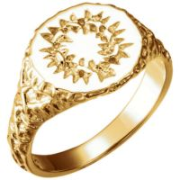 crown of thorns 14 karat gold ring
