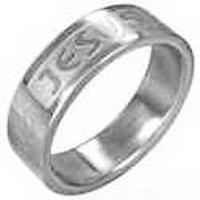 Jesus Ring Woman's Stainless Steel