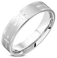 Cross Ring Stainless Steel Men's,Woman's