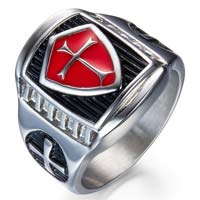 Armor Cross Shield Ring Stainless Steel 7-10