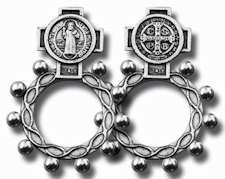 Saint Benedict Rosary Ring Silver