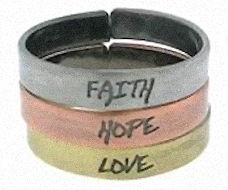 Faith Hope Love Triple Rings