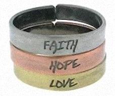Faith Hope Love Triple Rings