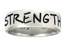 Men's Christian Ring - Strength Phil. 4:13