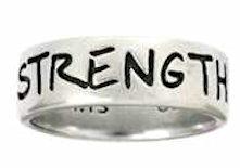 Men's Christian Ring - Strength Phil. 4:13