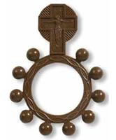 Brown Plastic Rosary Ring