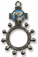 St. Michael Silver Rosary Ring