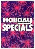 Holiday Specials Sign