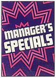 Managers Specials Sign