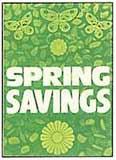 Spring Savings Sign