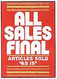 All Sales Final Sales Sign