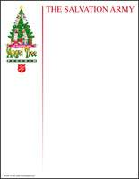 Salvation Army Angel Tree Letterhead (Pkg of 200)