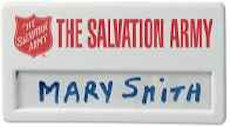 The Salvation Army Identity Tag