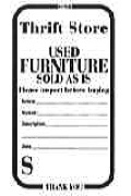 Thrift Store Furniture tags - GENERIC (Pkg of 1000)