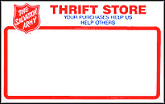 Salvation Army Logo Blank Rack Cards (Set of 50)