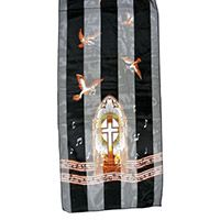 Choir Music Striped Satin Scarf