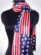 American Flag Scarf Polyester Light Weight