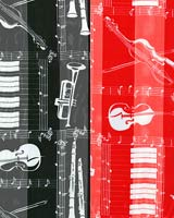 Musical Instrument Scarf