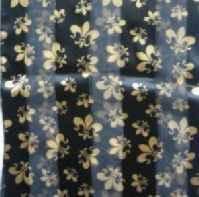 Black and Gold Fleur de lis Scarf