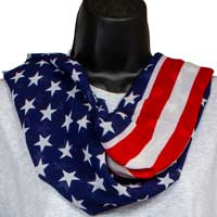 Patriotic Stars and Stripes Infinity Scarf