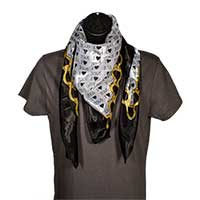 I Love Jesus Black and Gold Scarf -Hearts