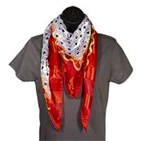 I Love Jesus Red and Gold Scarf