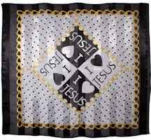 Love Jesus Gold and Black Scarf