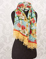 His Banner Over Me Is Love Scripture Scarf