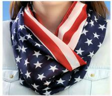 Patriotic Infinity Scarf,Stars and Stripes