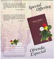 $10.00 Bilingual Special Offering Coin Folder (Pkg of 50)