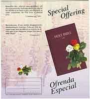 $10.00 Bilingual Special Offering Coin Folder (Pkg of 50)